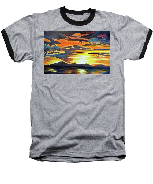 Baseball T-Shirt featuring the painting Redemption by Dottie Branchreeves