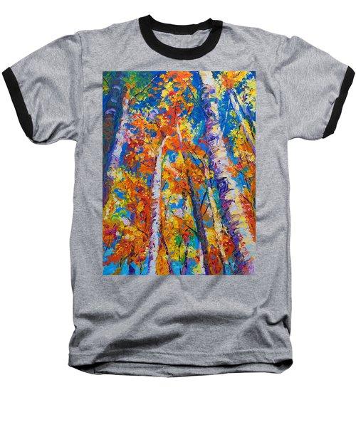 Redemption - Fall Birch And Aspen Baseball T-Shirt
