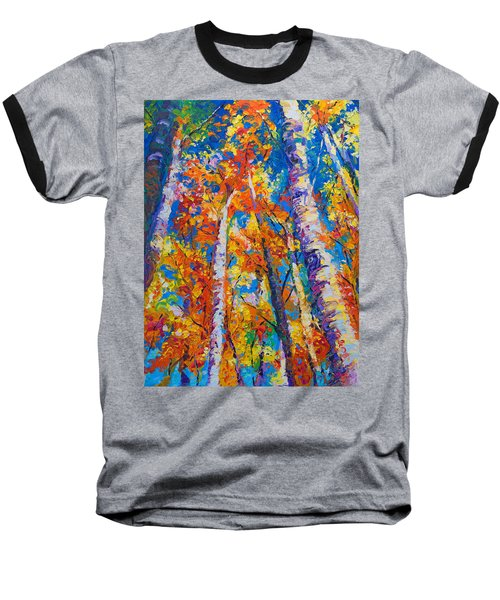 Redemption - Fall Birch And Aspen Baseball T-Shirt