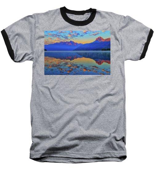 Redfish Lake Morning Reflections Baseball T-Shirt