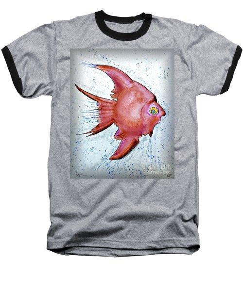 Baseball T-Shirt featuring the mixed media Redfish by Walt Foegelle