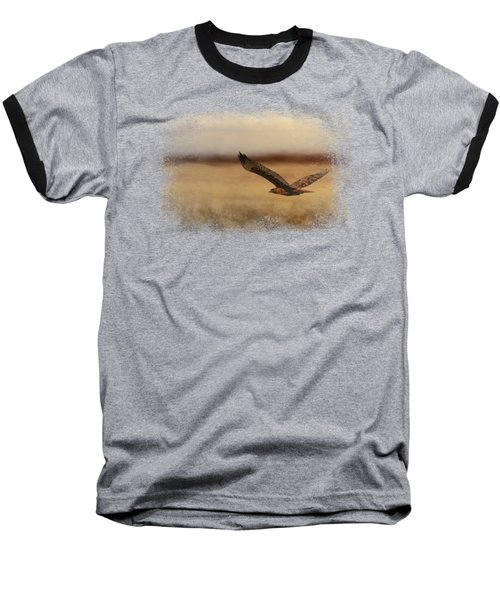 Redtail In The Field Baseball T-Shirt by Jai Johnson