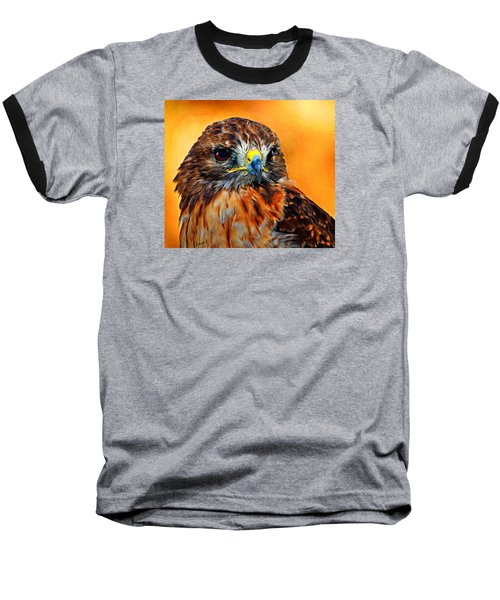 Redtailed Hawk Baseball T-Shirt