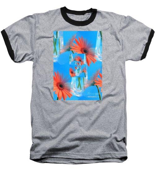 Redundant Gerbera Daisy Baseball T-Shirt