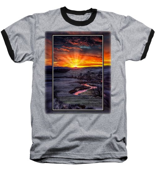 Redwater River Sunrise Baseball T-Shirt