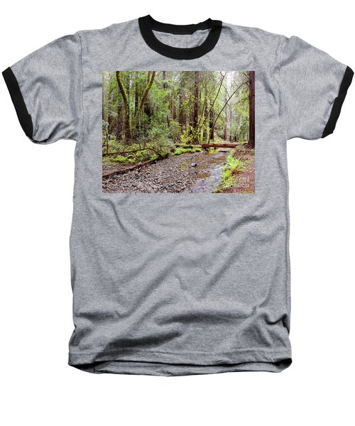 Redwood Creek Flowing Through Muir Woods National Monument - Mill Valley Marin County California Baseball T-Shirt