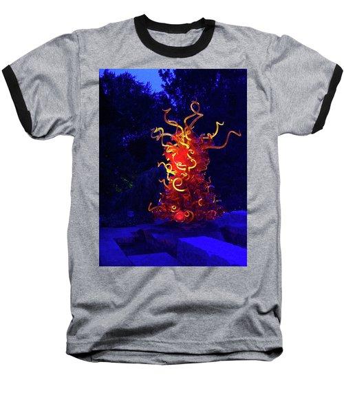 Redyellowbluenight Baseball T-Shirt by Robert J Sadler