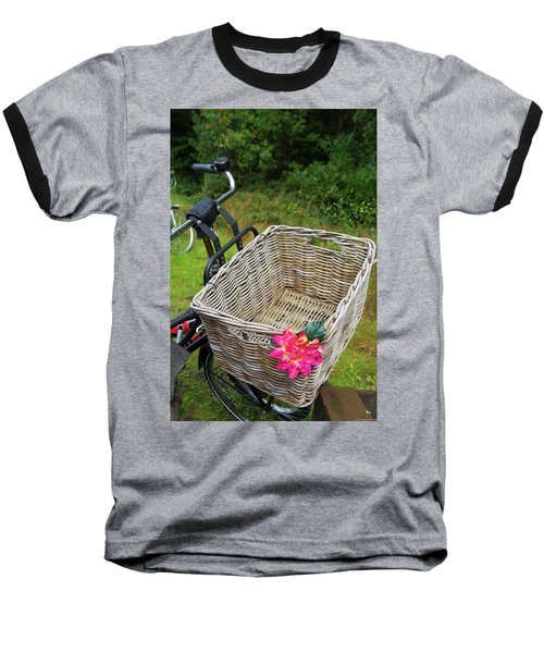 Reed Bicycle Basket Baseball T-Shirt by Hans Engbers