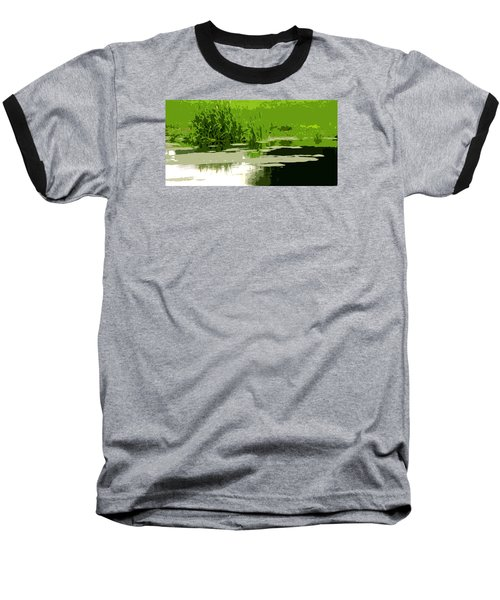 Baseball T-Shirt featuring the photograph Reeds At The  Pond by Spyder Webb