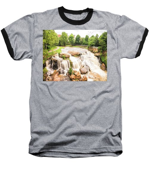 Baseball T-Shirt featuring the photograph Reedy River Falls Greenville Sc by Bellesouth Studio