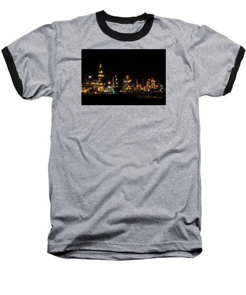 Refinery At Night 2 Baseball T-Shirt