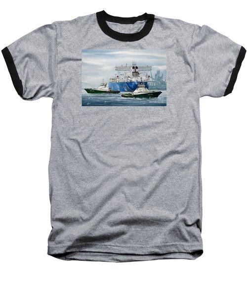 Refinery Tanker Escort Baseball T-Shirt by James Williamson