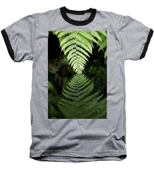 Reflected Ferns Baseball T-Shirt