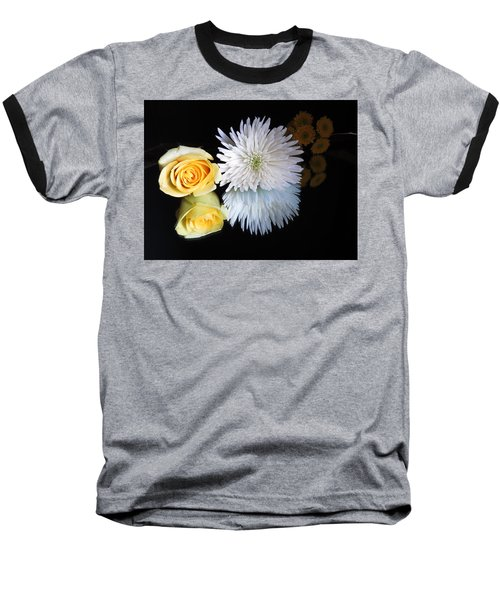 reflected Flowers Baseball T-Shirt