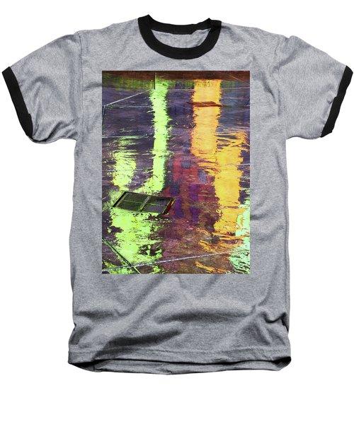 Reflecting Abstract Baseball T-Shirt