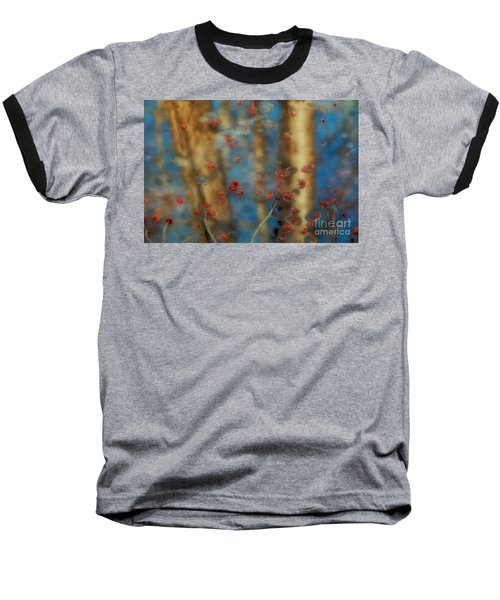 Reflecting Gold Tones Baseball T-Shirt by Elizabeth Dow