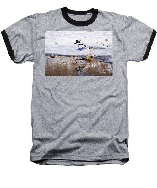 Reflecting Magpie Baseball T-Shirt