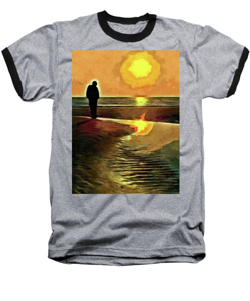 Reflecting On The Day Baseball T-Shirt by Trish Tritz