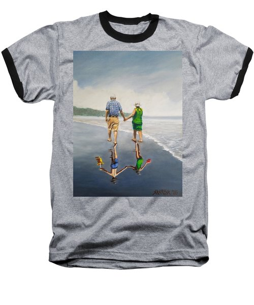 Reflecting Happiness Baseball T-Shirt by Jason Marsh