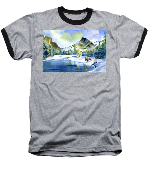 Reflecting Yosemite Baseball T-Shirt