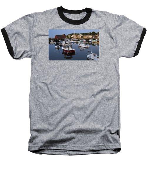 Reflection At Rockport Harbor Baseball T-Shirt