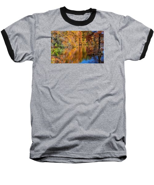 Reflected Fall Foliage Baseball T-Shirt