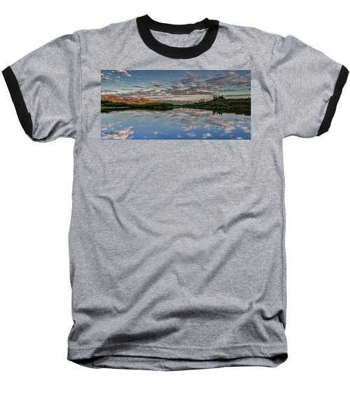Baseball T-Shirt featuring the photograph Reflection In A Mountain Pond by Don Schwartz