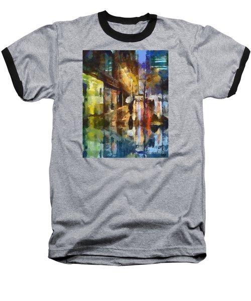 Reflection In The Rain Baseball T-Shirt by Dragica  Micki Fortuna