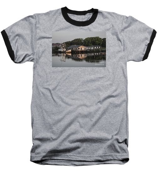 Reflection Noitcelfer Baseball T-Shirt by Roberta Byram