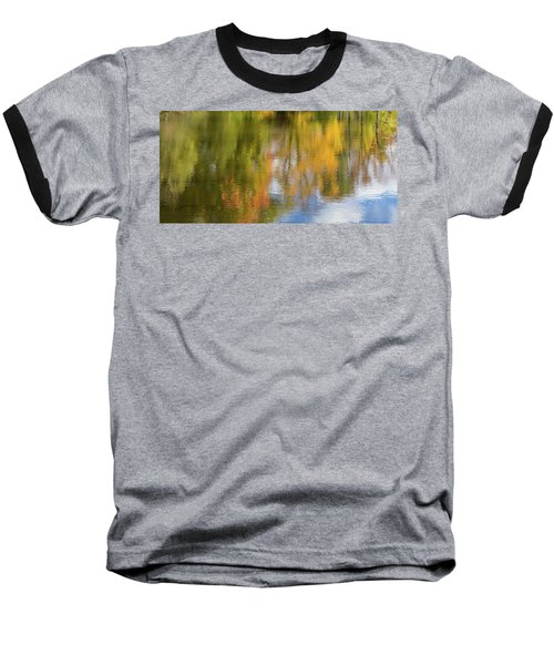 Reflection Of Fall #1, Abstract Baseball T-Shirt