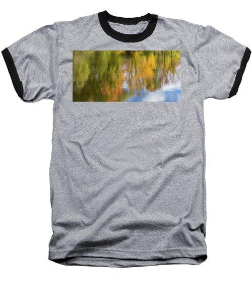 Reflection Of Fall #1, Abstract Baseball T-Shirt