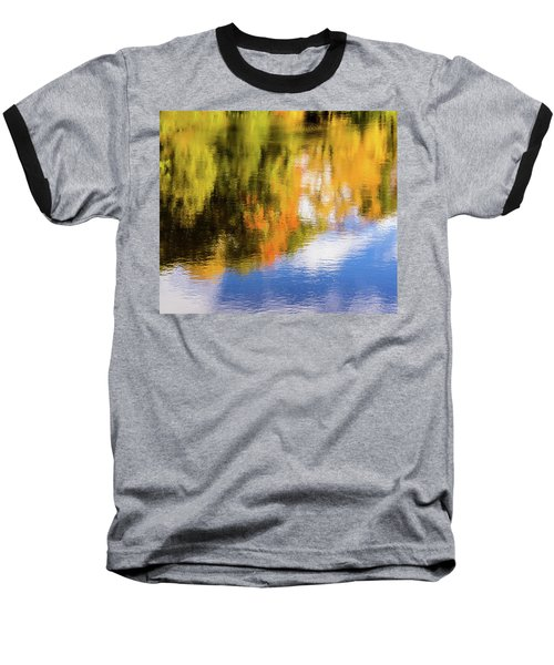 Reflection Of Fall #2, Abstract Baseball T-Shirt