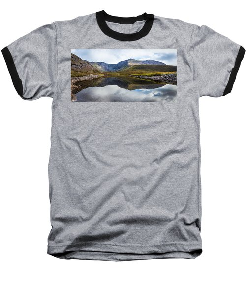 Reflection Of The Macgillycuddy's Reeks In Lough Eagher Baseball T-Shirt by Semmick Photo