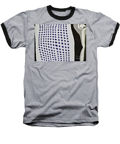 Baseball T-Shirt featuring the photograph Reflection On 42nd Street 1 Negative by Sarah Loft