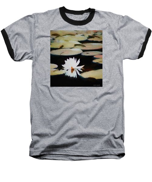 Baseball T-Shirt featuring the painting Reflection Pond by Debra     Vatalaro