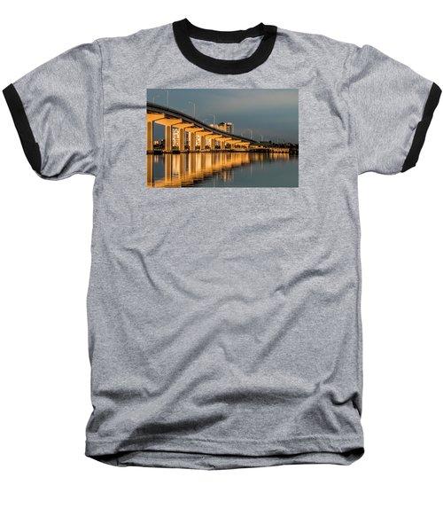 Reflections And Bridge Baseball T-Shirt by Dorothy Cunningham