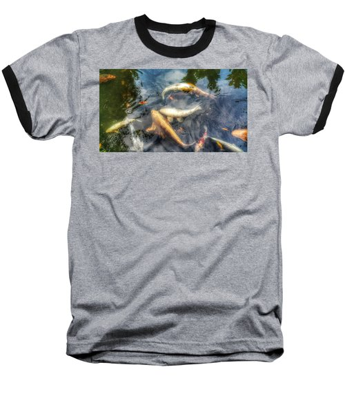 Reflections And Fish 2 Baseball T-Shirt by Isabella F Abbie Shores FRSA