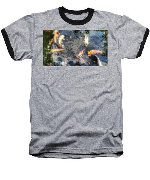 Reflections And Fish 3 Baseball T-Shirt by Isabella F Abbie Shores FRSA