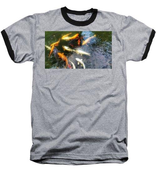 Reflections And Fish 5 Baseball T-Shirt by Isabella F Abbie Shores FRSA