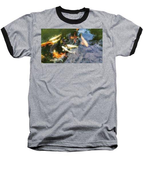 Reflections And Fish 6 Baseball T-Shirt by Isabella F Abbie Shores FRSA