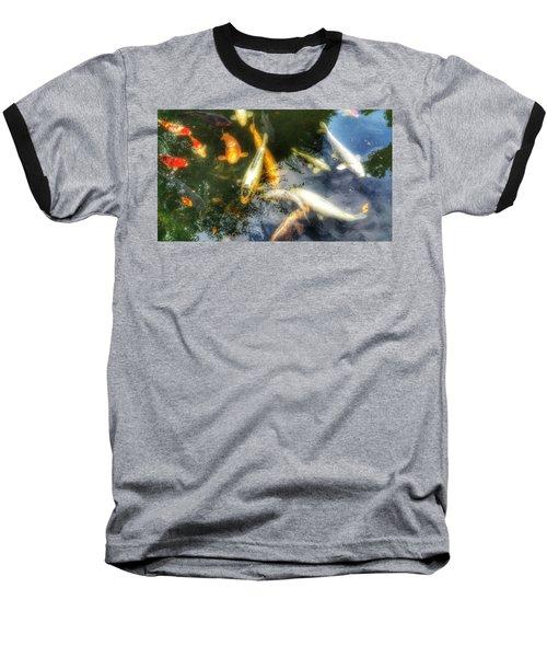Reflections And Fish 7 Baseball T-Shirt by Isabella F Abbie Shores FRSA