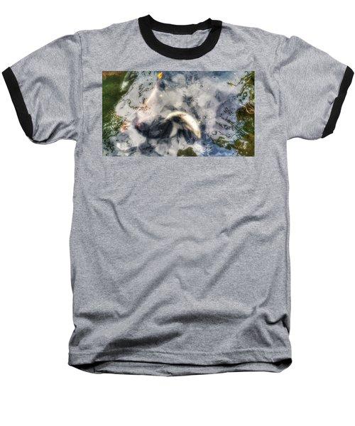 Reflections And Fish 8 Baseball T-Shirt by Isabella F Abbie Shores FRSA