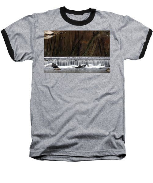 Reflections And Water Fall Baseball T-Shirt by Dorin Adrian Berbier