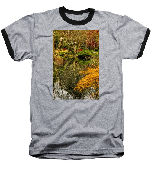 Baseball T-Shirt featuring the photograph Reflections At Japanese Gardens by Barbara Bowen