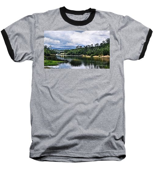 Reflections At Nicasio Reservoir  Baseball T-Shirt