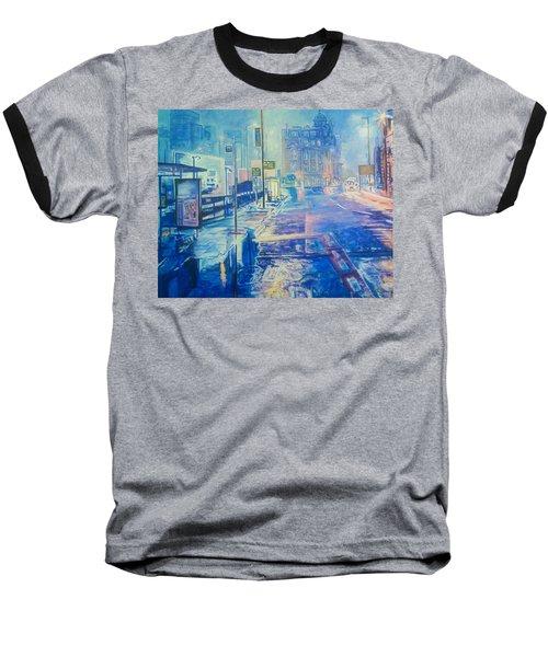 Reflections At Night In Manchester Baseball T-Shirt