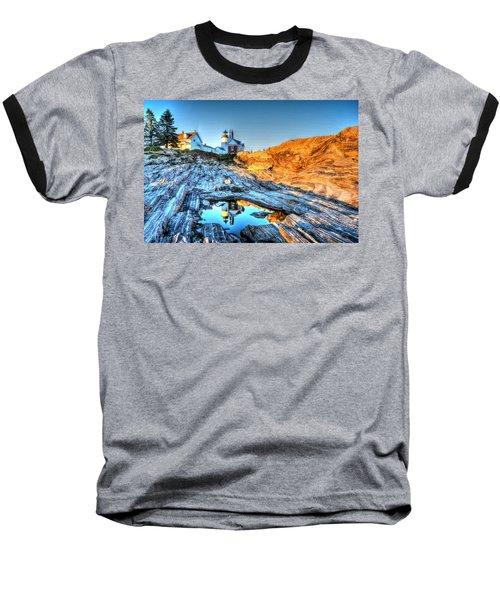 Reflections At Pemaquid Point Baseball T-Shirt