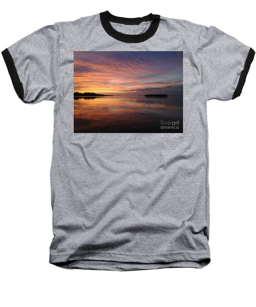 Reflections At Sunset In Key Largo Baseball T-Shirt