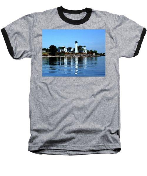 Reflections At Tibbetts Point Lighthouse Baseball T-Shirt