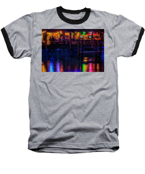 Reflections From Riverview Grill Baseball T-Shirt by Dorothy Cunningham